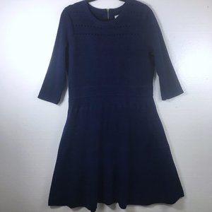 Eliza J Sz 1X Navy Ribbed A-Line Career Knit Dress